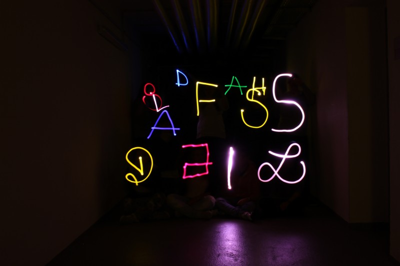 Lichtmalerei -lightgraffiti Medienpotpourri