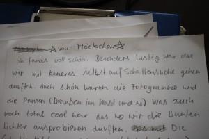 Kommentar einer Teilnehmerin zum Workshop im Lindenaumuseum. durchgeführt von Medienpotpourri